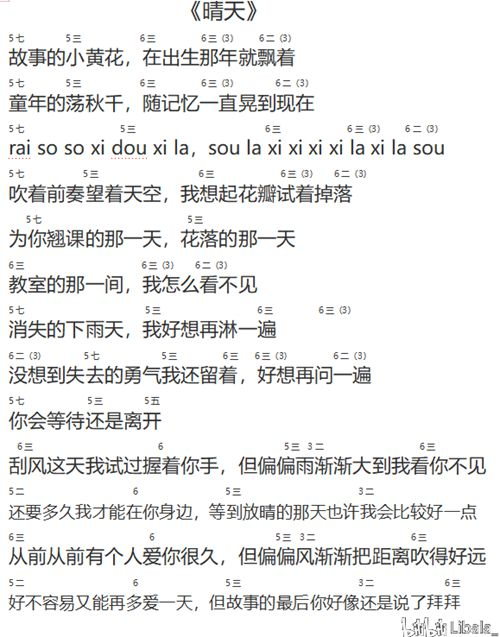 周杰伦(晴天)全网最简单吉他谱(附教学视频)_WWW.XUNWANGBA.COM