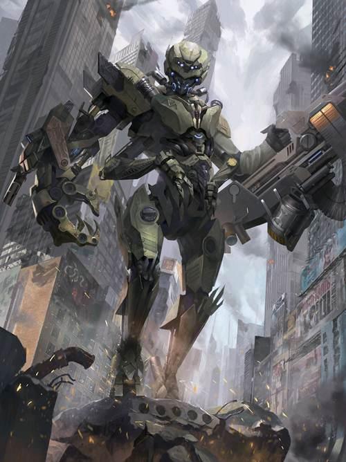 震撼人心的科幻机甲,科幻机器战士_WWW.XUNWANGBA.COM