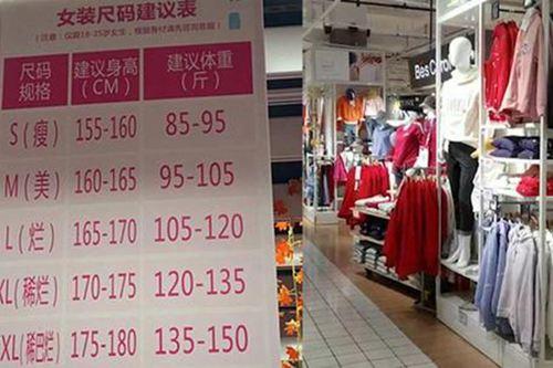 大润发就女装尺码建议表致歉 女装尺码体重对照表_WWW.XUNWANGBA.COM