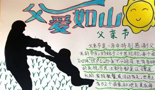父亲节手抄报大全 父亲节手抄报图片_WWW.XUNWANGBA.COM