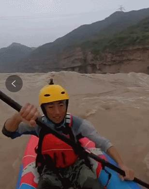 90后小伙一人一狗黄河漂流 90后小伙从银川划船到了济南_WWW.XUNWANGBA.COM