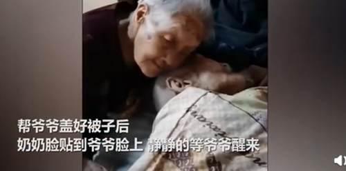 100岁奶奶贴脸陪伴98岁爷爷_WWW.XUNWANGBA.COM