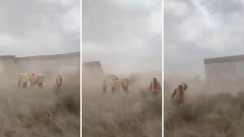 特朗普边境墙被飓风刮倒_WWW.XUNWANGBA.COM